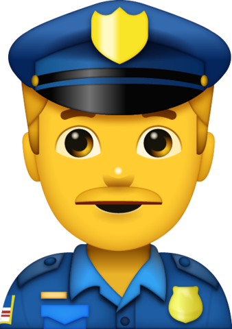 Man iphone apple faces. Police clipart emoji