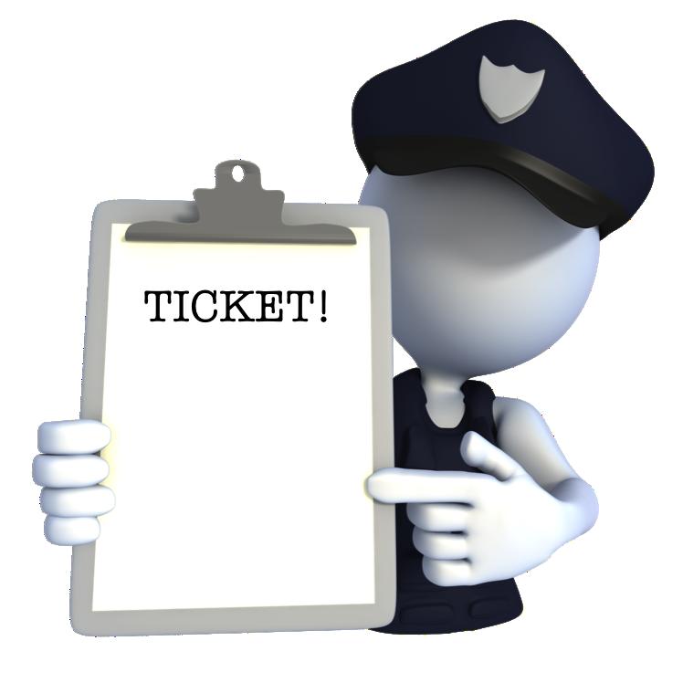 Mondays with mick stickman. Ticket clipart police