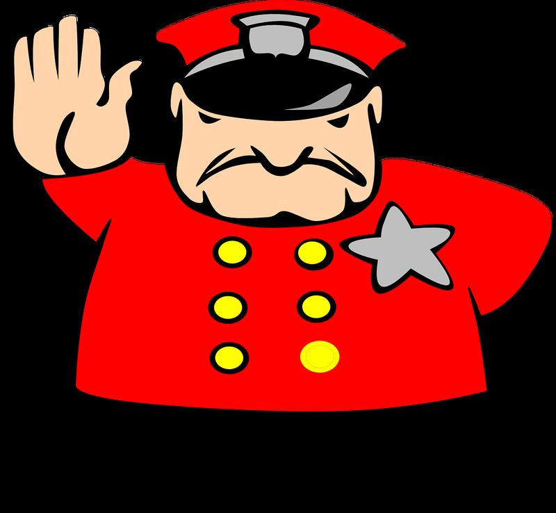 Policeman angry