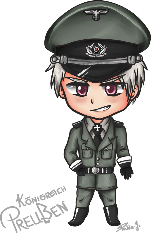 Policeman clipart chibi. Prussia wehrmacht by tana
