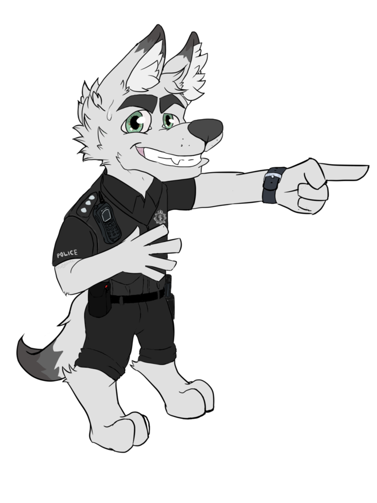 Kage by minty eevee. Policeman clipart chibi