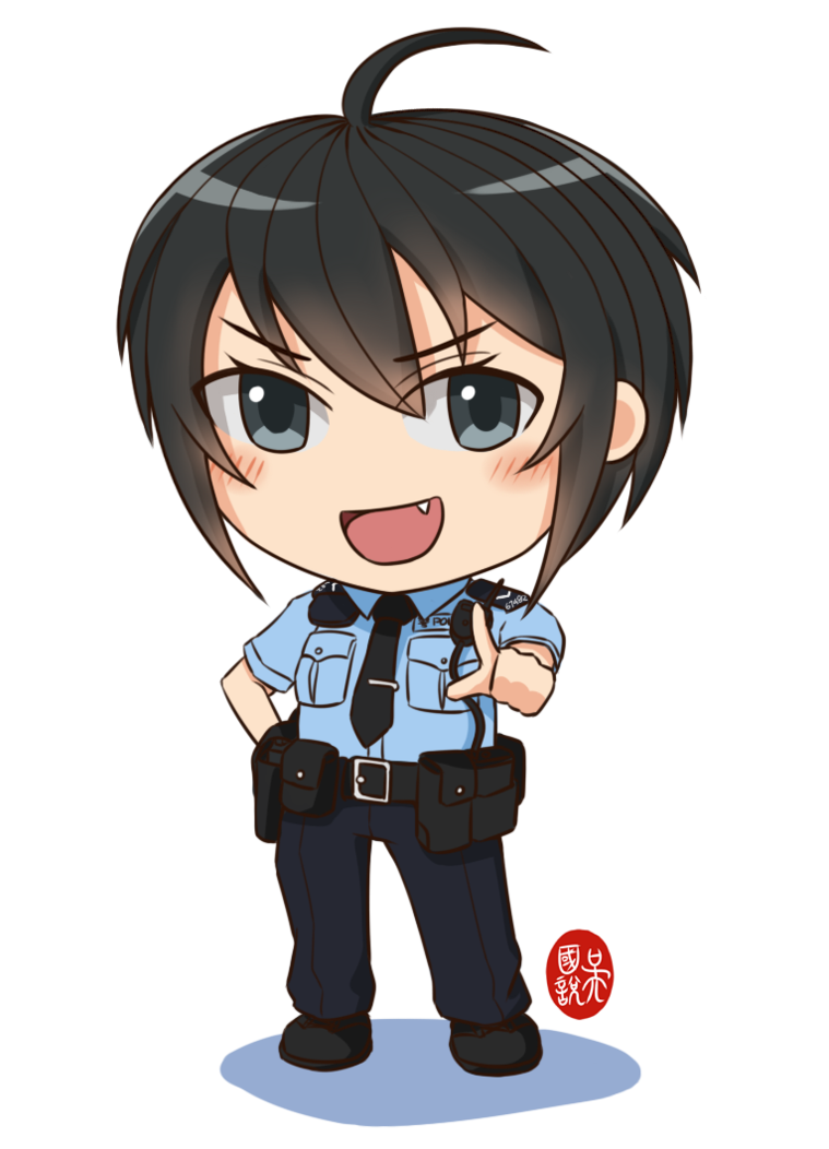 Policeman clipart chibi. Alice by ndtwofives on