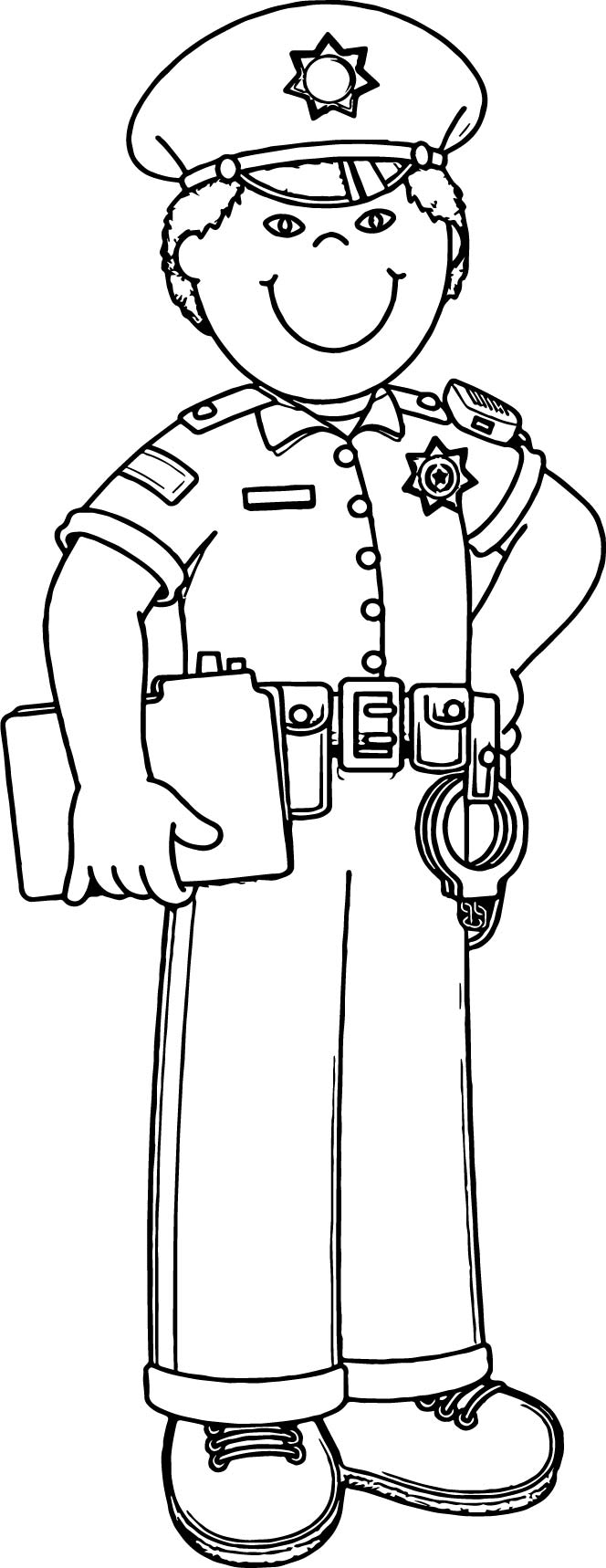 - Policeman Clipart Coloring, Policeman Coloring Transparent FREE
