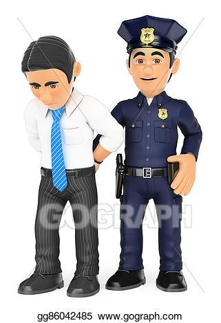 Policeman clipart crime. Clip art d arresting