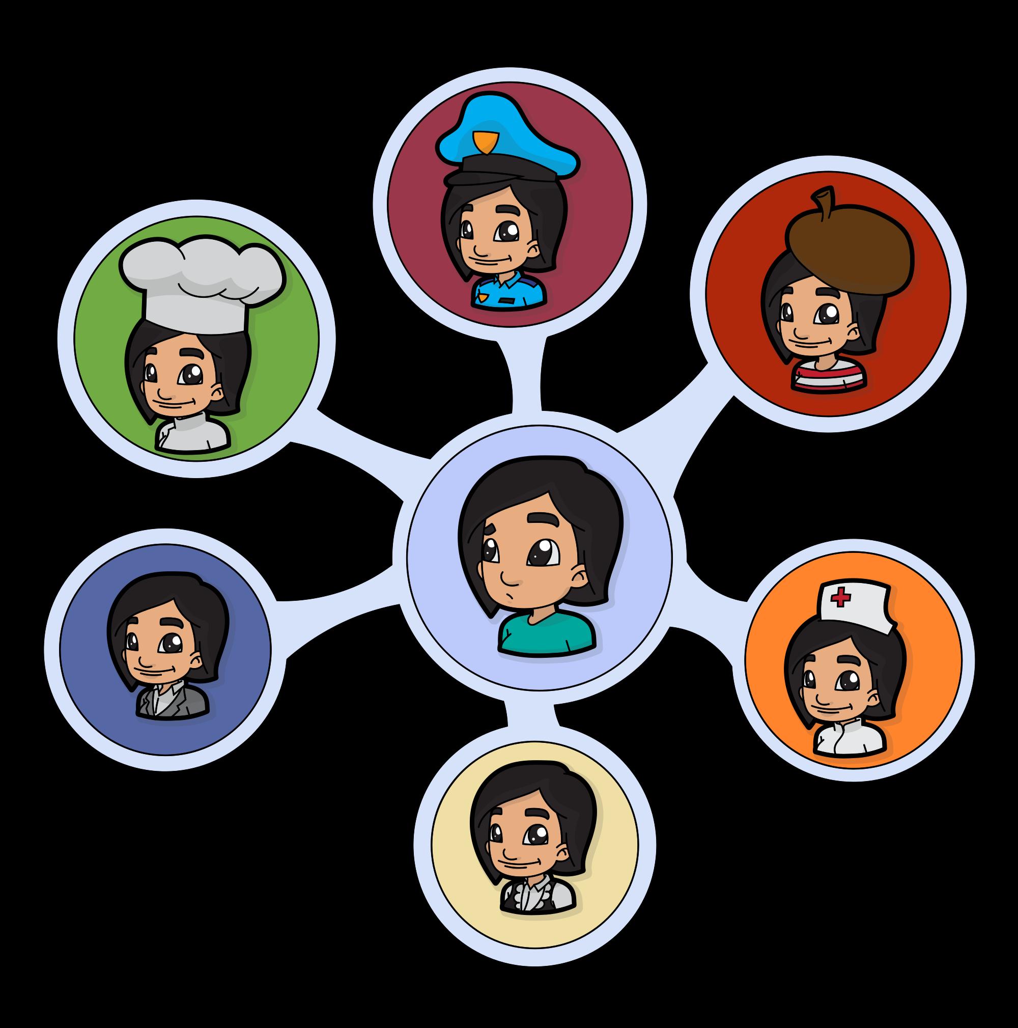 File career change cartoon. Waitress clipart occupation