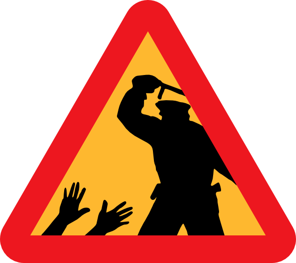 Policeman clipart police baton. Warning for brutality clip
