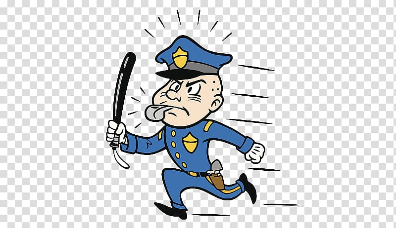 Policeman clipart police baton. Officer policemen patrolling and