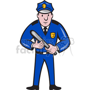 Holding royalty free . Policeman clipart police baton
