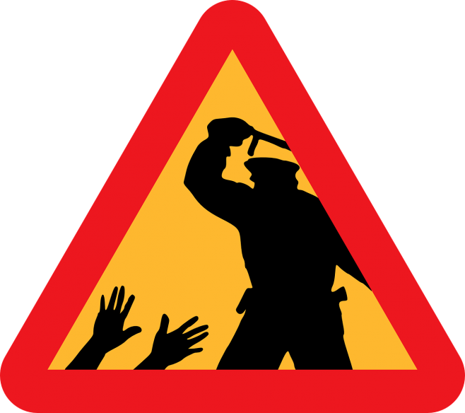 A cry for justice. Policeman clipart police station sign
