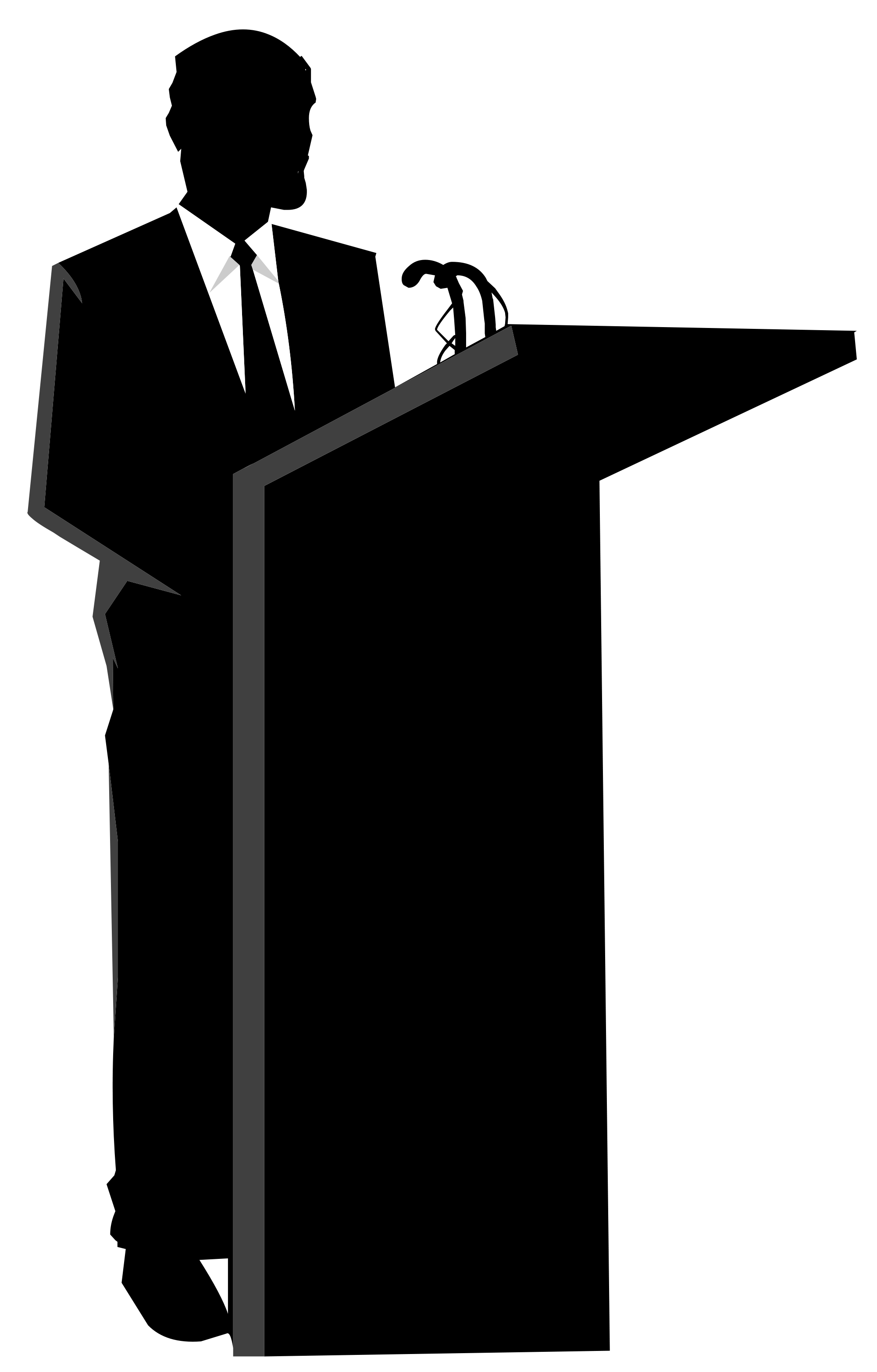 Politician silhouette at getdrawings. Lady clipart speaker