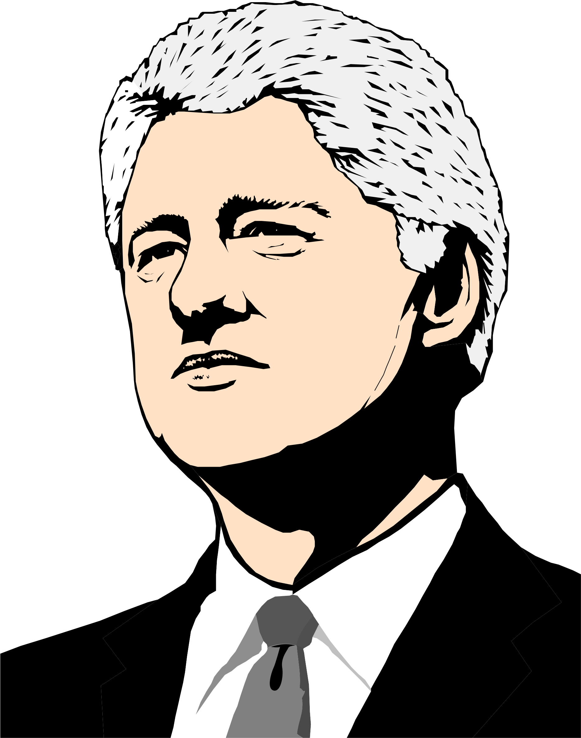 Politician clipart clinton. Bill big image png