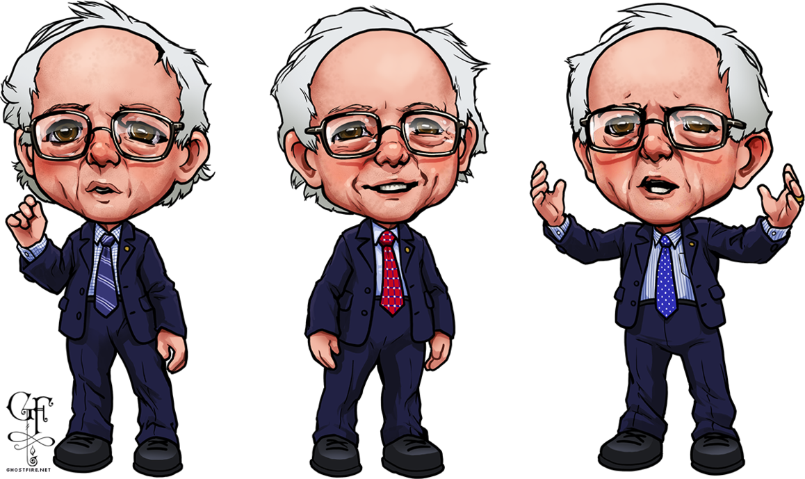 Bernie sanders caricatures by. Politician clipart clinton