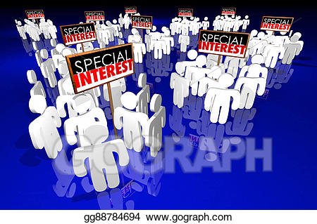 Stock illustration special interest. Politician clipart political action committee