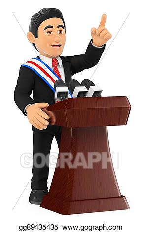 Politics clipart president. Drawing d politician giving