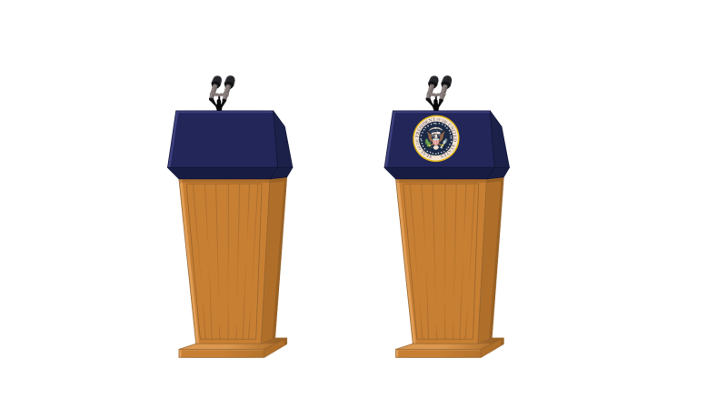 Ourclipart pin . Politician clipart president podium