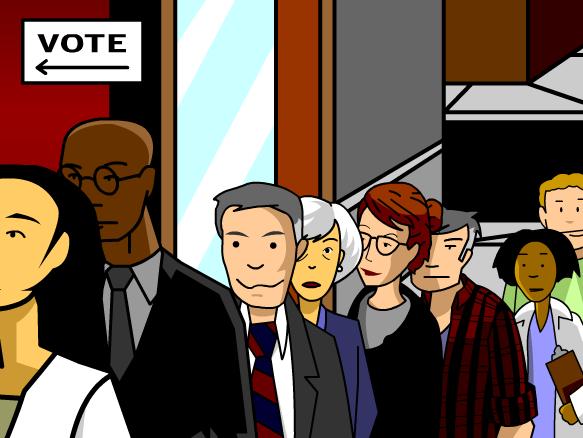 Cartoon politics government . Politician clipart representative democracy