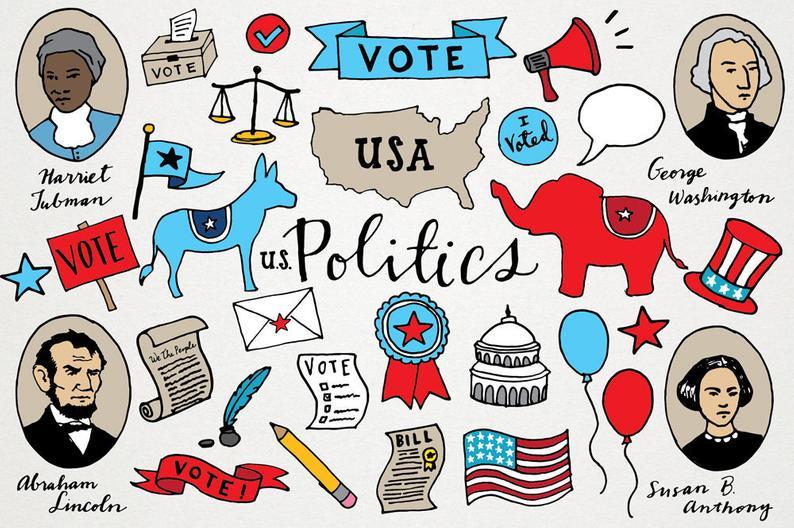 Politics clipart. Political voting clip art