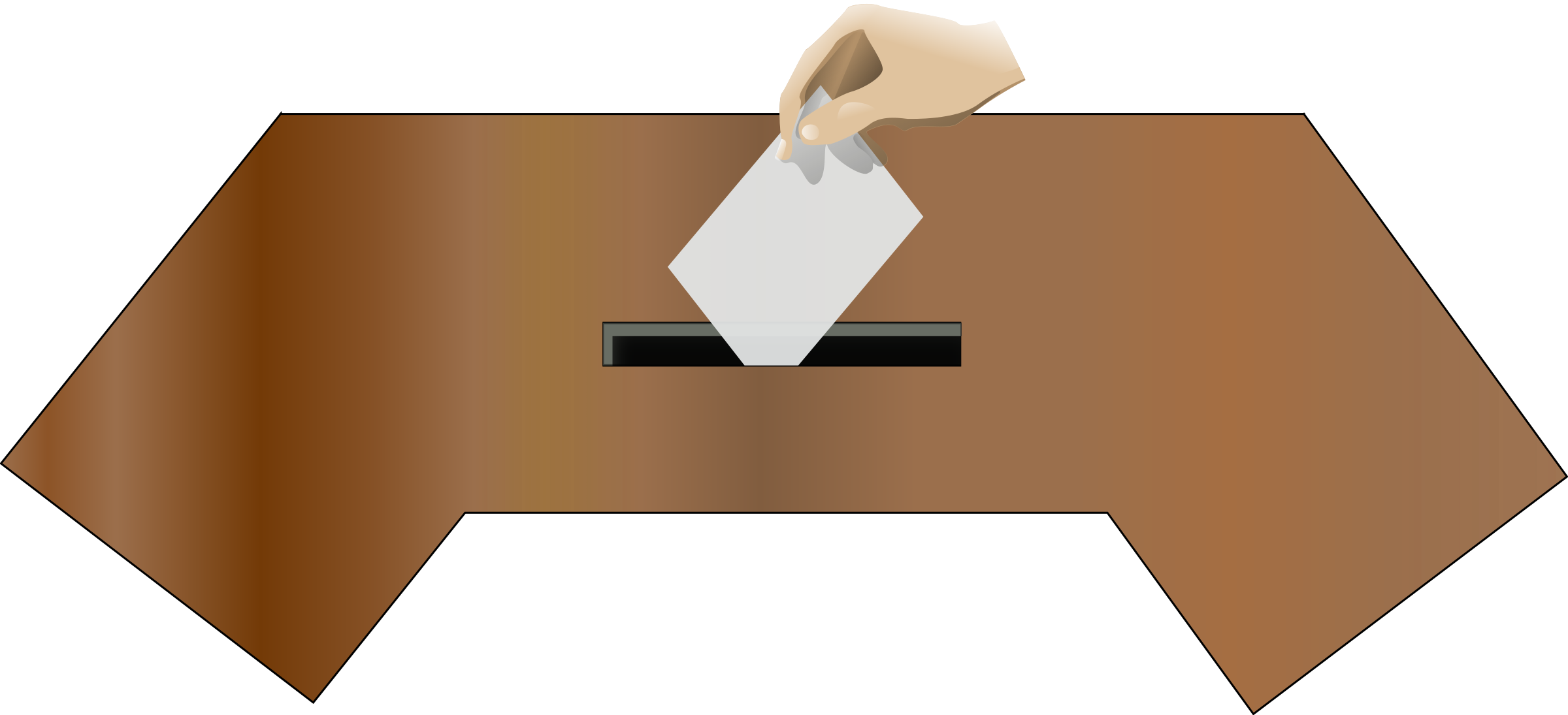 Ballot box front with. Voting clipart hand
