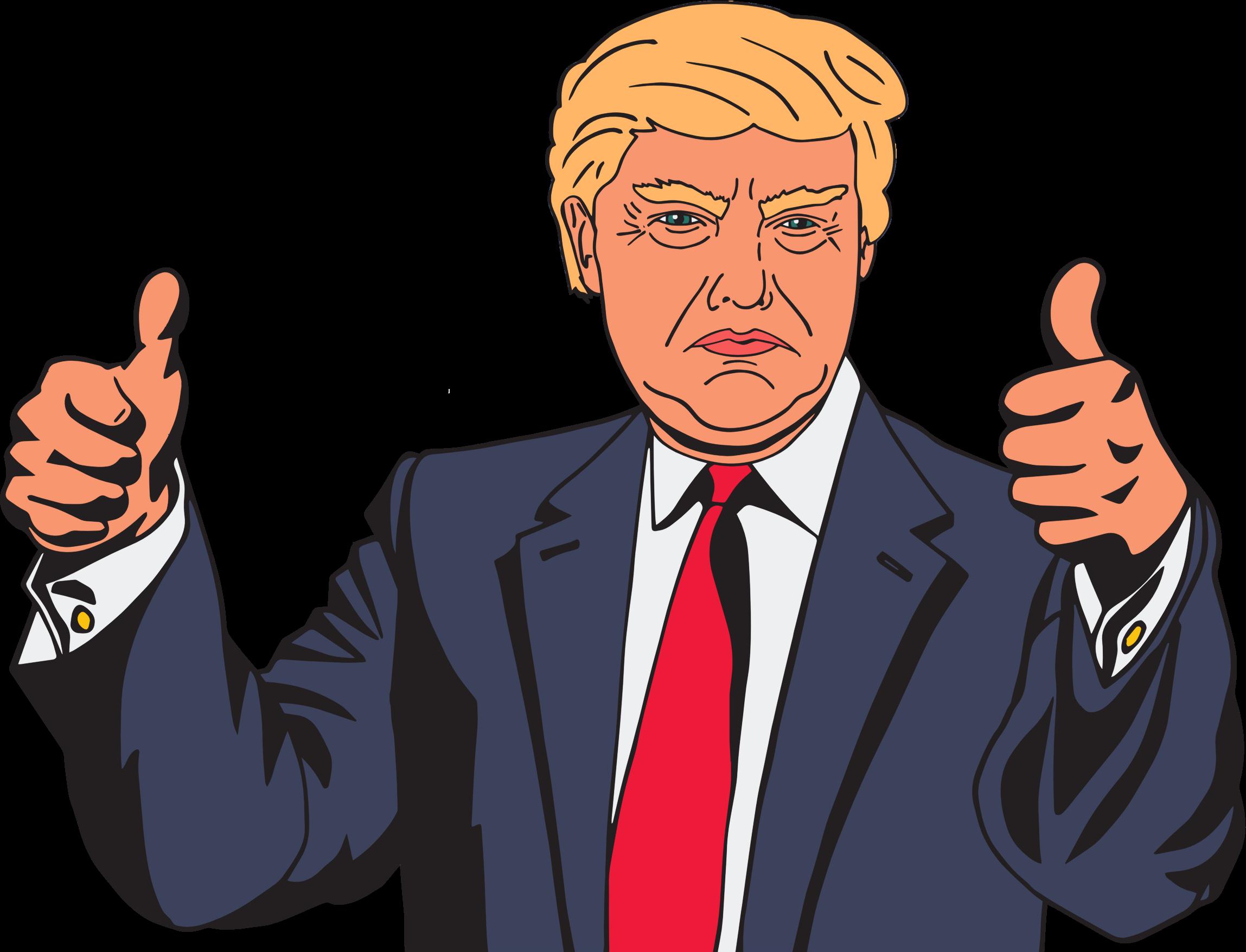 President trump is walking. Politics clipart convincing