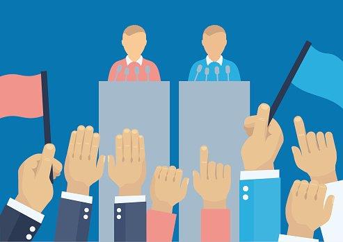 Elections illustration premium . Politics clipart debate