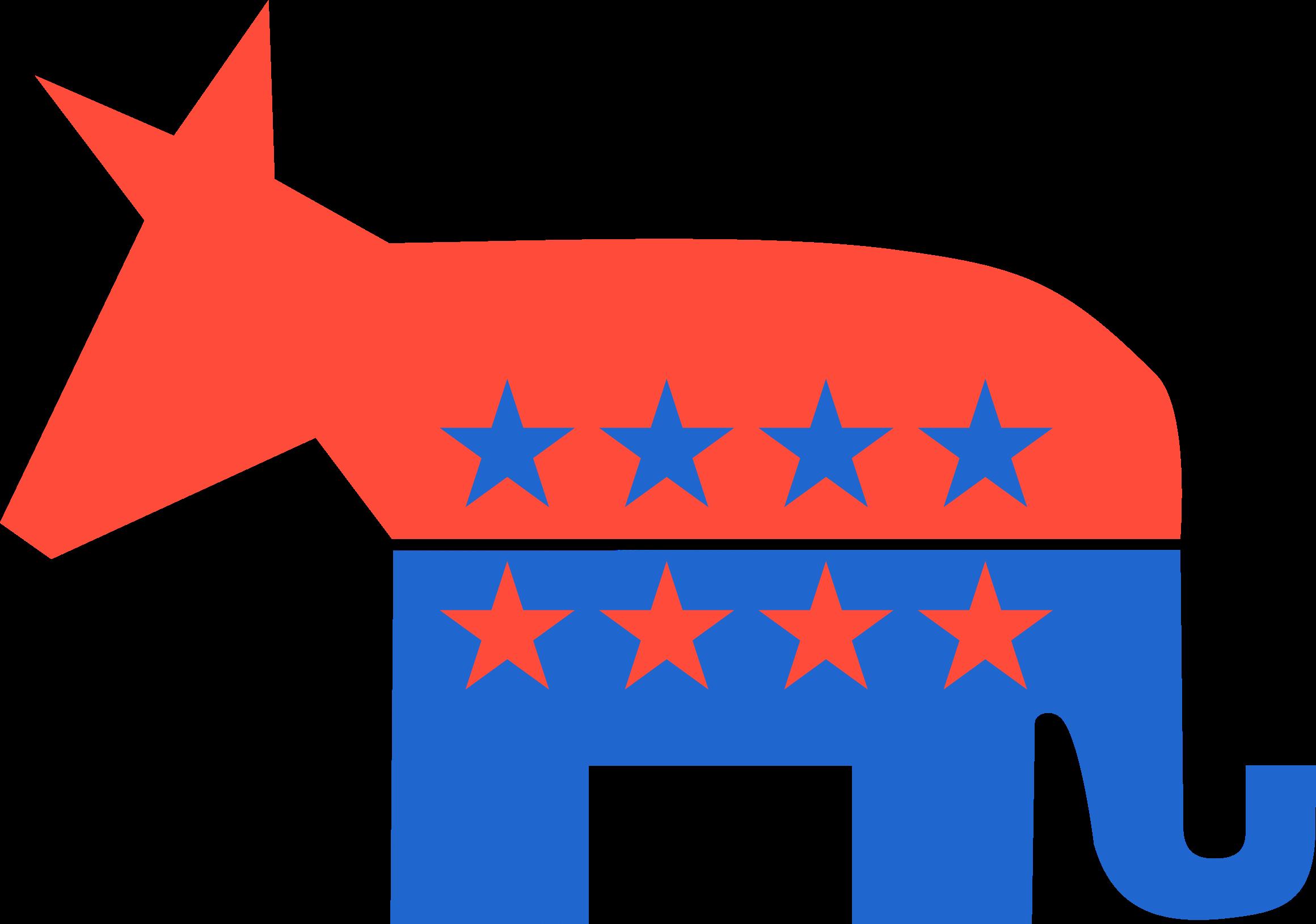 Republicrat big image png. Politics clipart democrat donkey