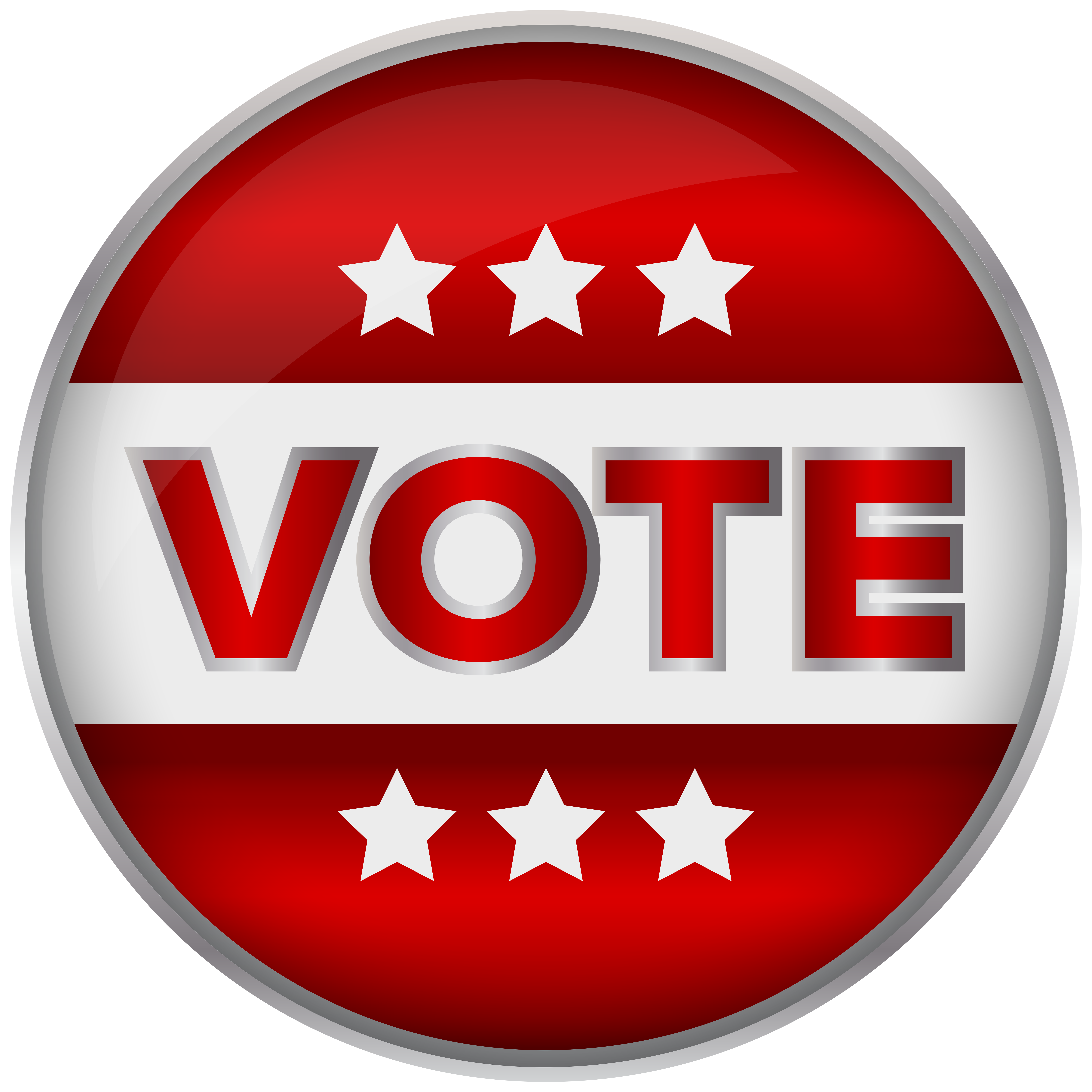 Red badge vote png. Voting clipart border