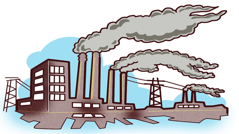 collection of air. Pollution clipart