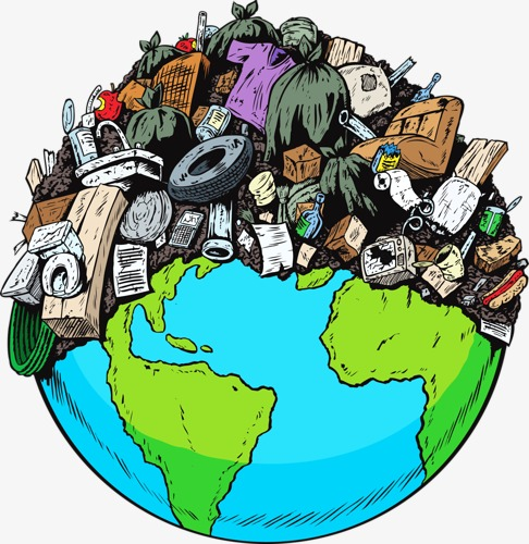 Pollution clipart. Rubbish earth load png