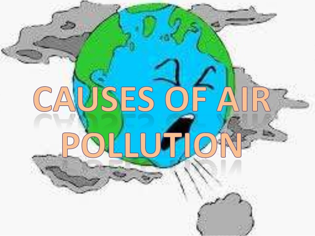 Earth polluted pencil and. Pollution clipart