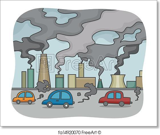 Pollution clipart. Free art print of