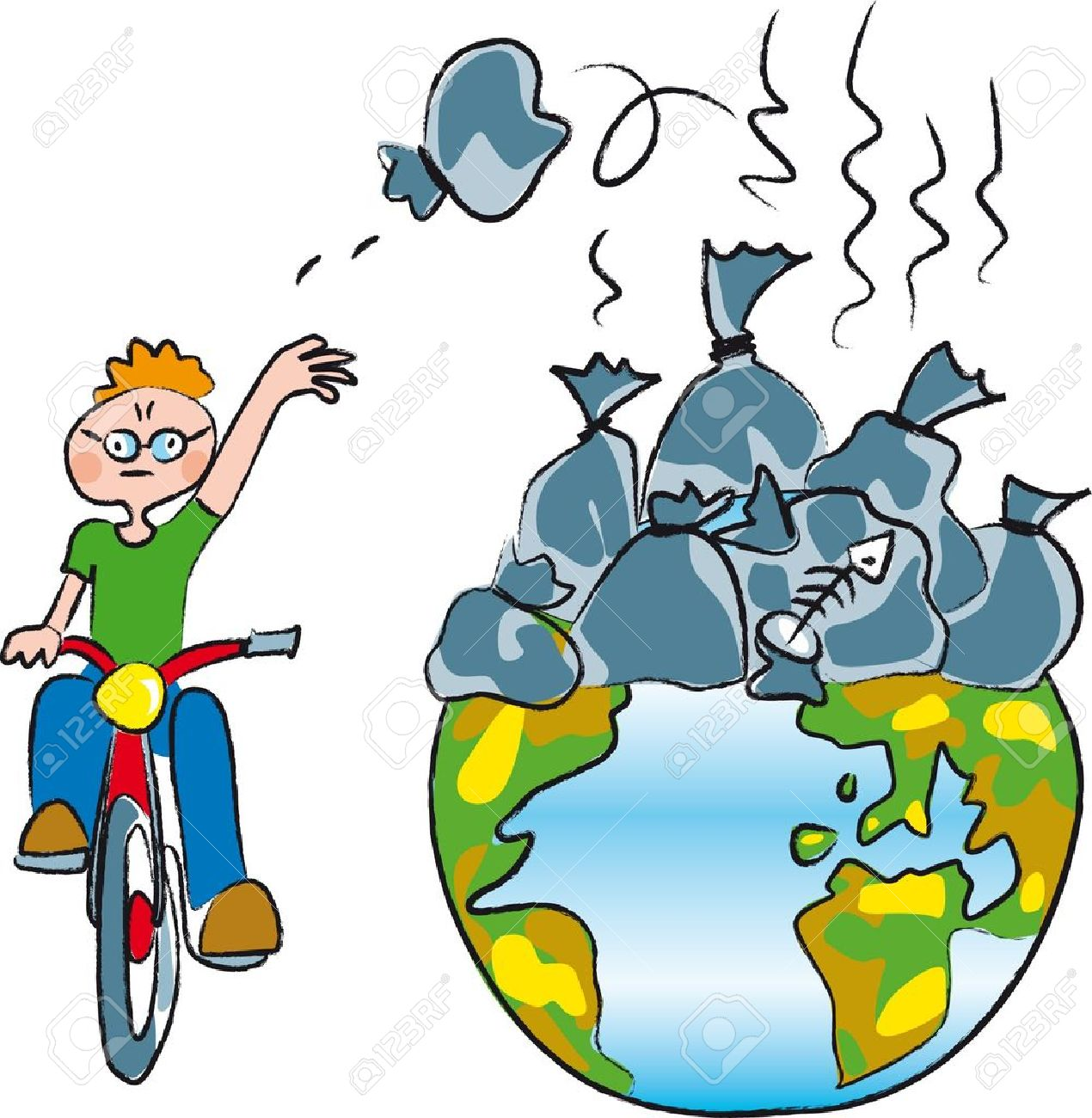 Pollution clipart. Land