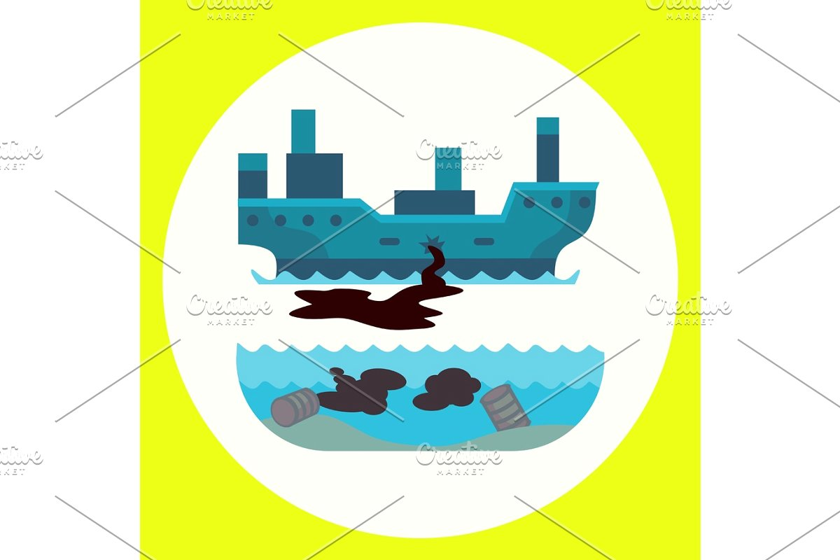 Ecological problems environmental oil. Pollution clipart destroyed environment