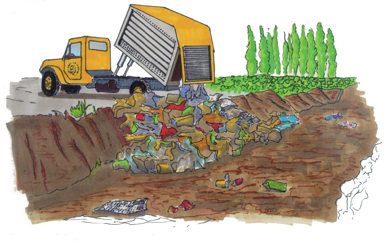 Causes of soil drawing. Pollution clipart land pollution