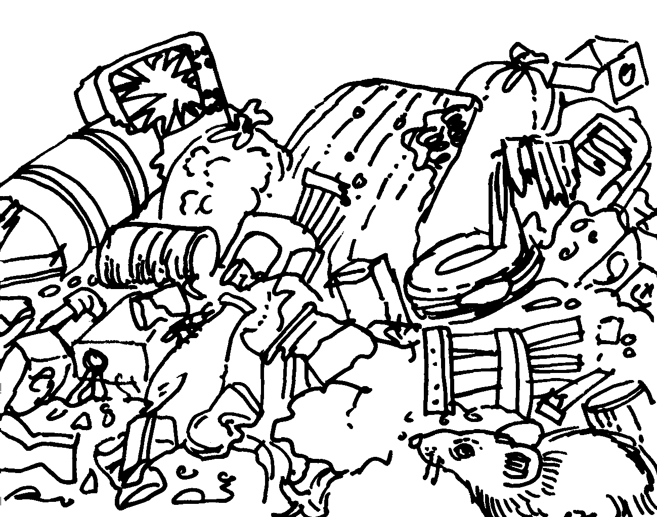 Shovel Coloring Page - GetColoringPages.com | 1023x1299