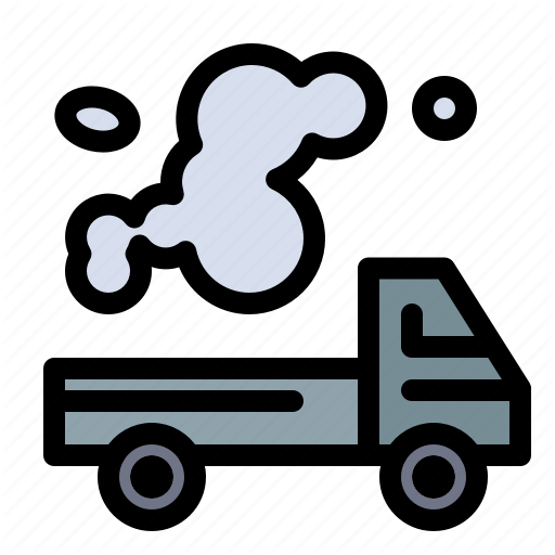 Pollution clipart truck.  by flatart