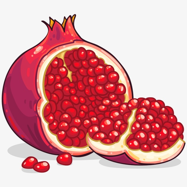 Pomegranate clipart. Red seed seeds png