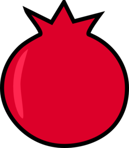 Clip art at clker. Pomegranate clipart