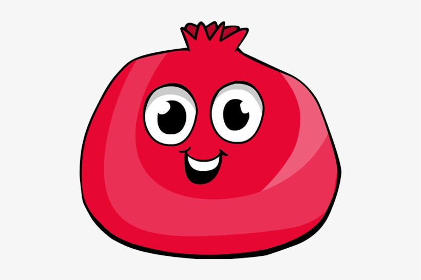 Pomegranate clipart cartoon. Funny png