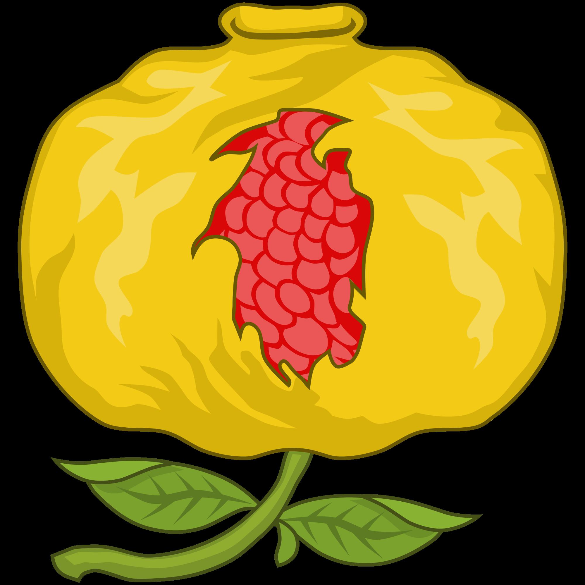 Pomegranate clipart file. Badge of mary i