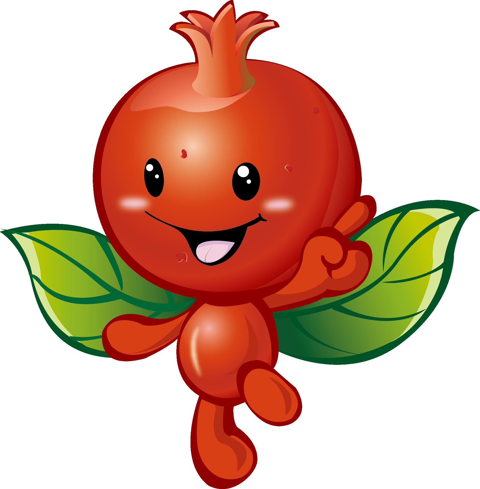 Fruit computer cartoon transprent. Pomegranate clipart file