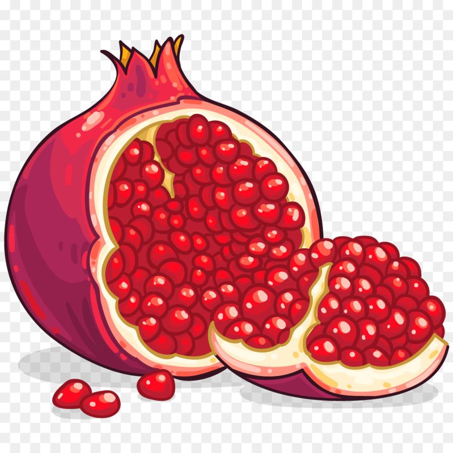 Fruit cartoon food plant. Pomegranate clipart fruts