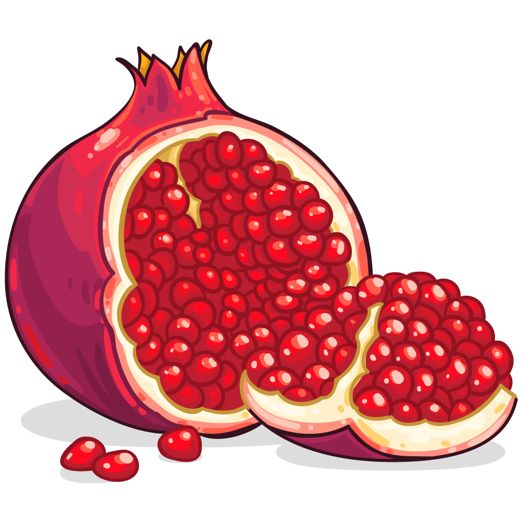 Pomegranate clipart half. Download png image hq