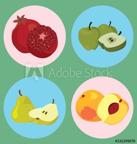 Pomegranate clipart healthy fruit. Apple pear peach buy