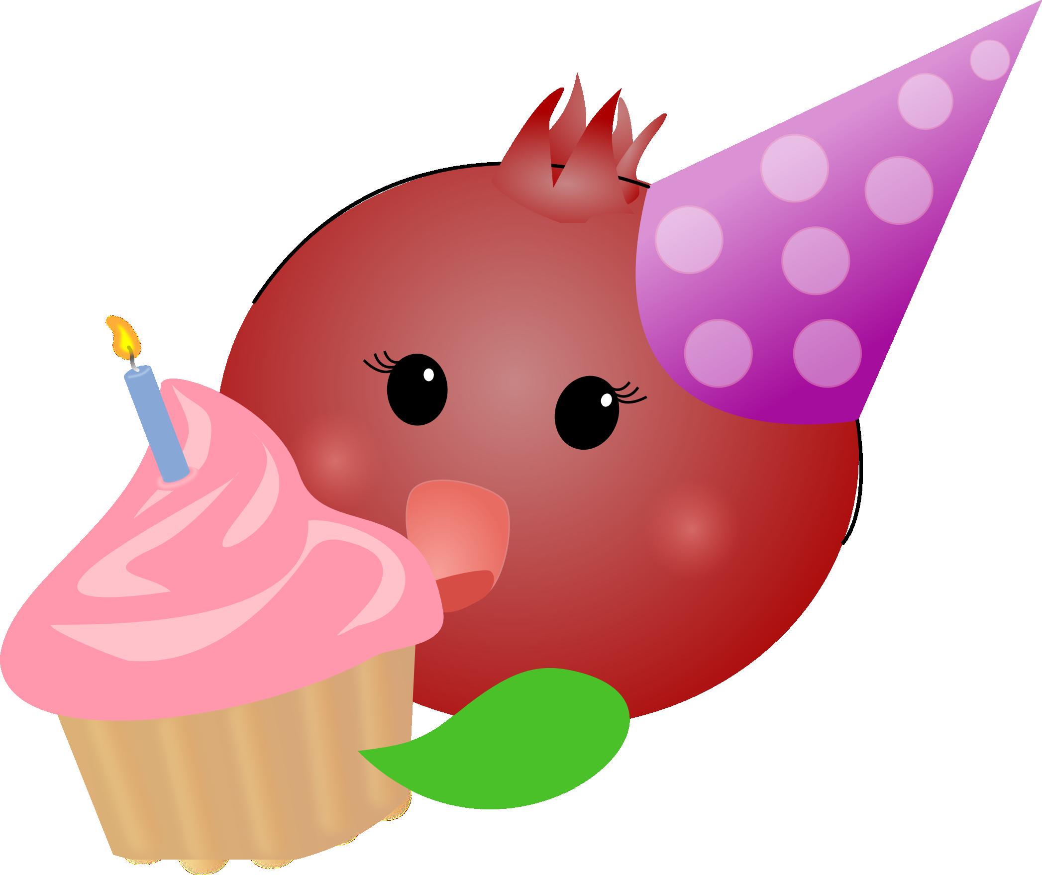 Pomegranate clipart illustration. Birthday the pretty pommie