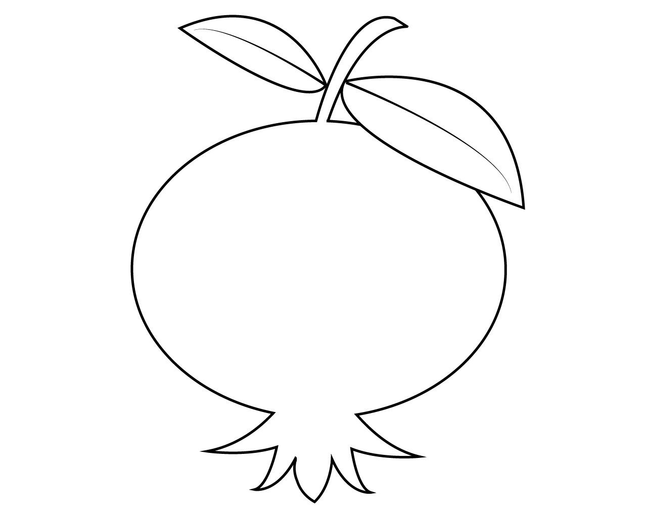 Fruits coloring pages careersplay. Pomegranate clipart printable