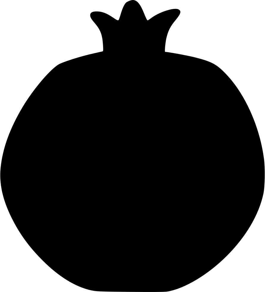 Pomegranate clipart single. Garnet fruit food nature