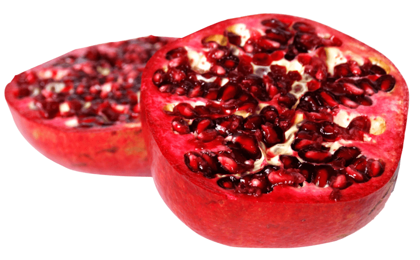 Pomegranate clipart slice. Sliced png free images
