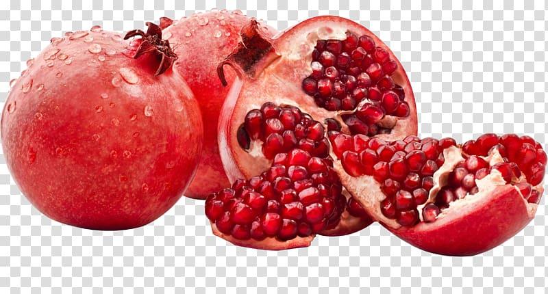 Sliced red fruit juice. Pomegranate clipart slice
