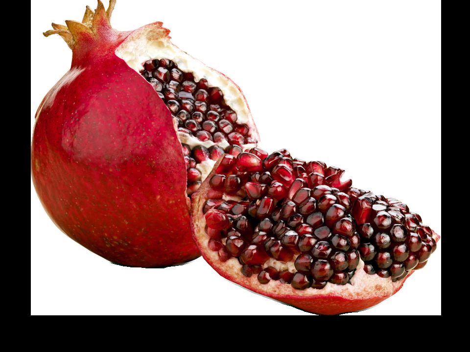 Halved png image purepng. Pomegranate clipart slice