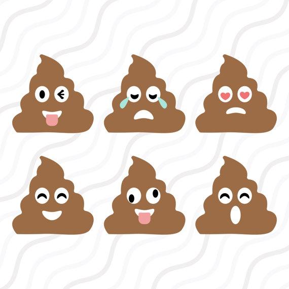 Emoji svg cut table. Poop clipart